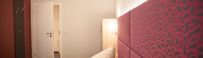 Foto Doppelbett eines Hotelzimmers