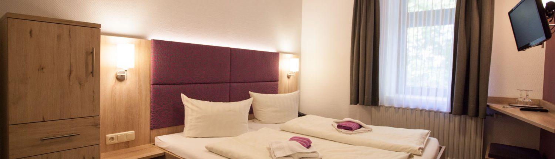 Foto Doppelzimmer mit Doppelbett