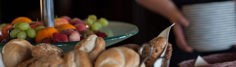 Foto Ausschnitt des Frühstcksbuffet